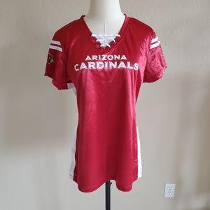 Arizona Cardinals Women's Jersey T-shirt Large
